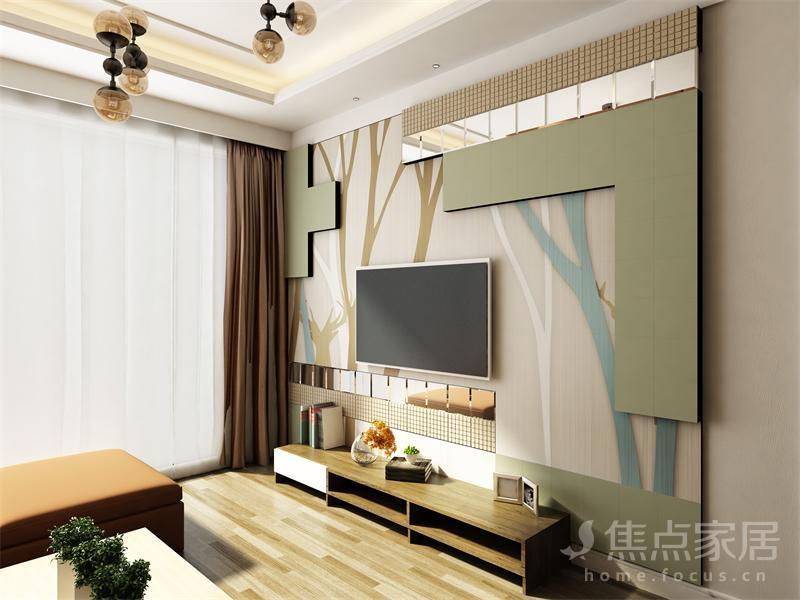 芜湖梅叶装饰中式风格电视背景墙设计